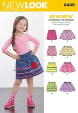 NEW LOOK SEWING PATTERN CHILD'S PULL ON SKIRT SIZE 3 - 8 6409