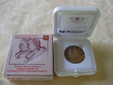 Vatikan 2014 Medaille Bronze Heiligsprechung Johannes Paul II + Johannes XXIII