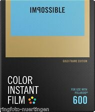 Impossible 600 COLOR GOLD FRAME EDITION POLAROID Film SOFORTBILDFILM 4526