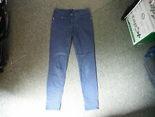 "H & M Slim Leg Jeans Waist 29"" Leg 30"" Faded Dark Blue Ladies Jeans."