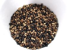 1400pcs x 3mm WOODEN Round Donut SEED Beads - MIX OF BLACK & BROWN TONE