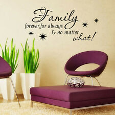 FAMILY FOREVER Wall Stickers Art Quote Decal Removable Vinyl Room Home Decor