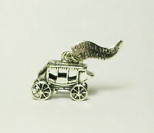 Vintage Sterling Silver Stage Coach Charm Panderosa Ranch Pendant 925