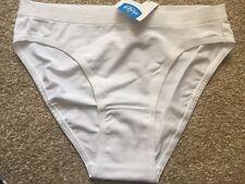 Sloggi Sensual Fresh Tai Briefs Knickers Size 10 In White (0003) RRP £12