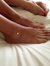 New Beach Fashion Sexy Ankle Bracelet Heart Foot Chain Gold Tone Jewelry Anklet