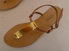 Country Road 37 gold beige strappy sandals shoes Italy Very good used