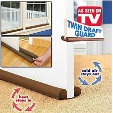 Twin Door Draft Dodger Guard Stopper Energy Saving Protector Doorstop Home Decor