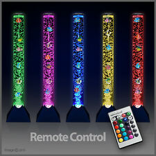 Remote Control Colour Changing LED Novelty Sensory Bubble Fish Tube Floor Lamp