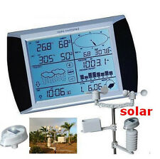 Solar Powered Touch Screen Weather Station With PC Link