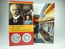 *** 5 EURO Gedenkmünze ÖSTERREICH 2007 Wahlrechtsreform im Folder Silber Münze *