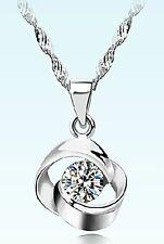 008 Damen Halskette mit Anhänger Love 925 Sterling Silber Pl Swarovski Element