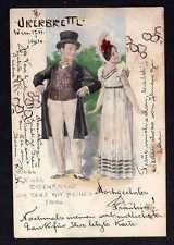 101140 AK Überbrettl literarisches Kabarett Wien 1901 Künstlerkarte im Stil von