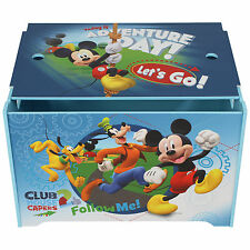 DISNEY MICKEY MOUSE TOY BOX TOY CHEST BEDROOM FURNITURE STORAGE NEW OFFICIAL