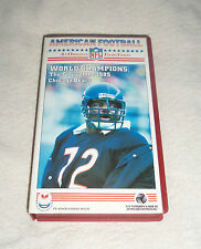 NFL : Chicago Bears 1985 Super Bowl Champions VHS Video - Rare Walter Payton etc