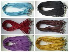 """new Wholesale Bulk lot 60 pcs 6color Suede Leather String 20"""" Necklace Cords"""