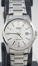 Casio LTP-1183A-7AD Ladies Silver Analog Watch Steel Band Date Display New