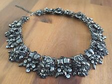Beautiful Brand New Grey/Silver Zara Statement Necklace/Bib/Choker Wedding