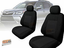 Custom Made BLACK Seat Covers for Subaru Forester SJ  F & R S4 1/2013-2016 2 ROW