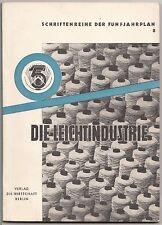 Schriftenreihe der Fünfjahrplan 8 Die Leichtindustrie 1951 DDR Wirtschaft Weber