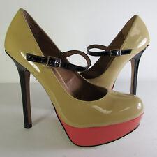Steve Madden Womens Bellah Ankle Strap Platform Pump Shoe, Coral, US 8.5