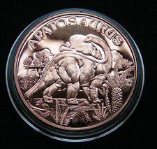 Apatosaurus Copper Round 1 Oz Kupfer Medaille  Dinosaurier
