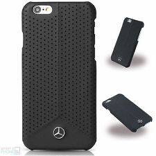 Mercedes Echtleder perforiert iPhone 6,6s Cover Hard Case Hülle Handy Tasche