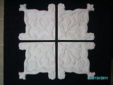 4x Deckenverzierung / Decken - Ornament aus Stuckgips / Stuckelement M1