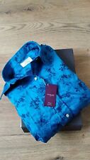 Brand New TM Lewin Women's Fitted Luxury Shirt/ UK 16 100% Cotton Paisley Blue