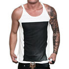 Vague Clothing Mens Cotton Square Print Fashion Singlet