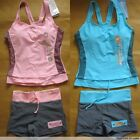 Women Tankini Swimsuit Sports Swimming 2 pcs Shorts oX