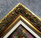 Large Gold Linen Liner Ornate Wood Picture Frame 1216GL