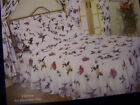 King Size Fitted Bedspread with Frill