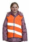 KIDS ORANGE FLUORESCENT HI VIS WAISTCOAT VEST CHILDRENS