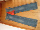 SEVEN 7 SWEETNESS STRAIGHT ORANGE TRIM JEANS 29 30