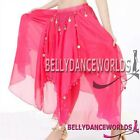 BELLY DANCE COSTUME TRIBAL GOLD COIN CHIFFON SKIRT 7CLR