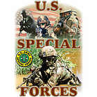 US SPECIAL FORCES II GIFT T-SHIRT PATRIOTIC MILITARY WO