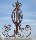 Wrought Iron New Orleans Candle Chandelier - Candelabra