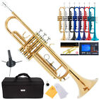 Mendini Bb Trumpet Gold Silver Black Blue Purple Red +Tuner+Case+CareKit фото
