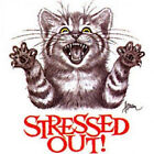 Stressed Out Cat Funny T-Shirt All Sizes And Colors (3017)