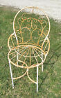 Wrought Iron Adult Ice Cream Flower Chair - Welded Metal Garden Chairs