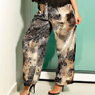 Leopard Print Satin Long Pants Lounge Wear to Plus Sizes S - XXXL #LEOLP