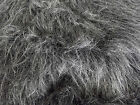 LONG Pile Fun Faux Fur Fabric Material - DARK GREY