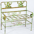 Wrought Iron Child's Frog Bench Seat - Childrens Bench Seating - Furniture