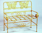 Wrought Iron Child's Butterfly Bench Seat - Childrens Bench Seating - Furniture