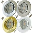 3 ->14er Sets LED Einbaustrahler Tomas 230V Downlights 5,0W Spots Warmweiß 3000K