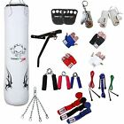 TurnerMAX Boxing Set White 13 Piece Punch Bag Filled Bracket Glove MMA