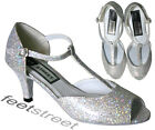 LADIES BALLROOM / LATIN / SALSA DANCE SHOES.UK SIZE Adults 3 up to Adults 7