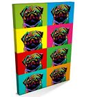 Pug Dog Pop Art Print, Box CANVAS A3 to A1 -v117