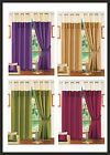 Designer Faux Silk Fully Lined Eyelet Ring Top Curtains Wine,Lime,Purple,Latte