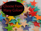 6 Silver Plated 17mm 5 Point Star Charms with High Quality Epoxy Coloring